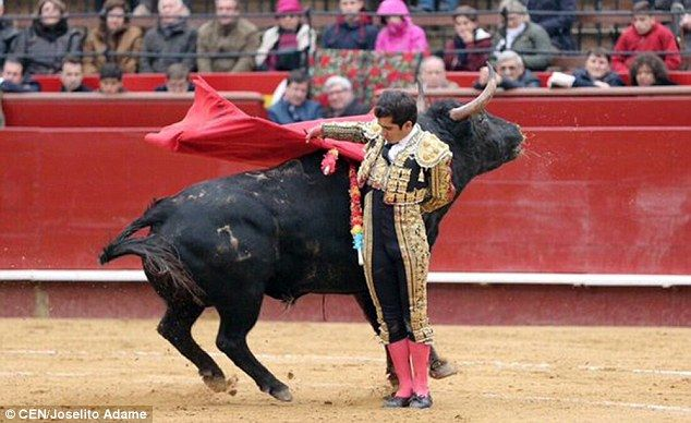 Moments from disaster: Mexican matador Joselito Adame was competing in a bullfight in Valencia, Spain ~ 1h1 hour ago Dramatic moment matador walks away after being GORED during Spanish festival http://dailym.ai/1RQEJ3t