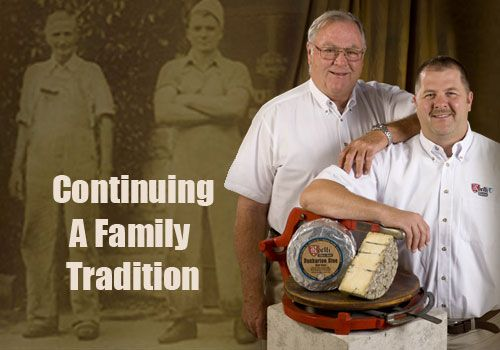 Roelli Family Cheese Haus near Shullsburg, Wisconsin, has a family tradition of making specialty cheese for nearly 100 years. Adolfo Roelli brought traditional Swiss cheese making practices with him from Switzerland in the 1920s. His family has remained in the cheese business ever since. Now, fourth generation cheese maker Chris Roelli oversees the family business, keeping traditional recipes alive and introducing new artisanal products—like his signature creation, Dunbarton Blue.