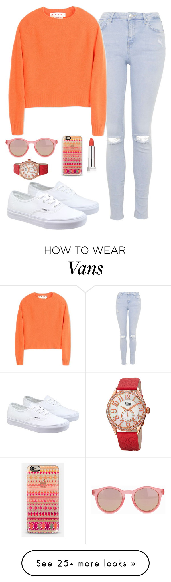 """""""Cute But Simple"""" by quonton on Polyvore featuring Topshop, Marni, Le Specs, Casetify, Maybelline, bürgi, Vans, women's clothing, women's fashion and women"""