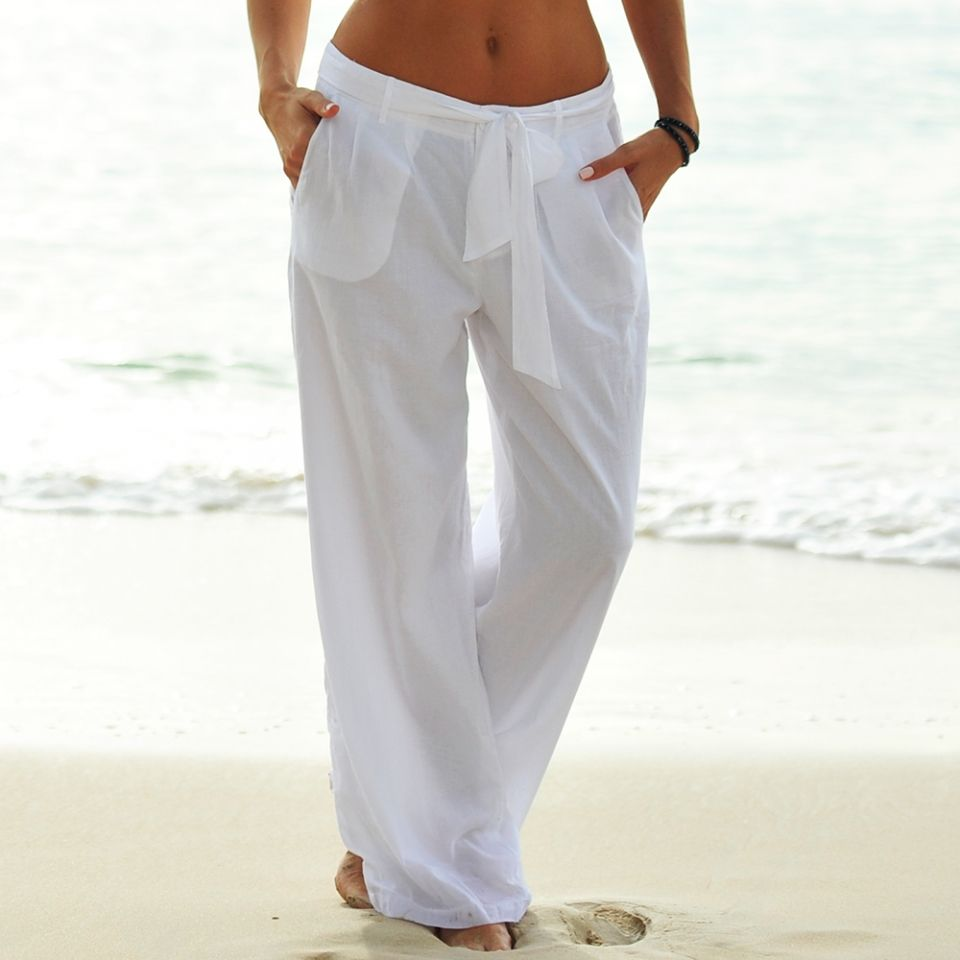Seafolly Souvenir Beach Pants - White Seafolly Souvenir Beach ...