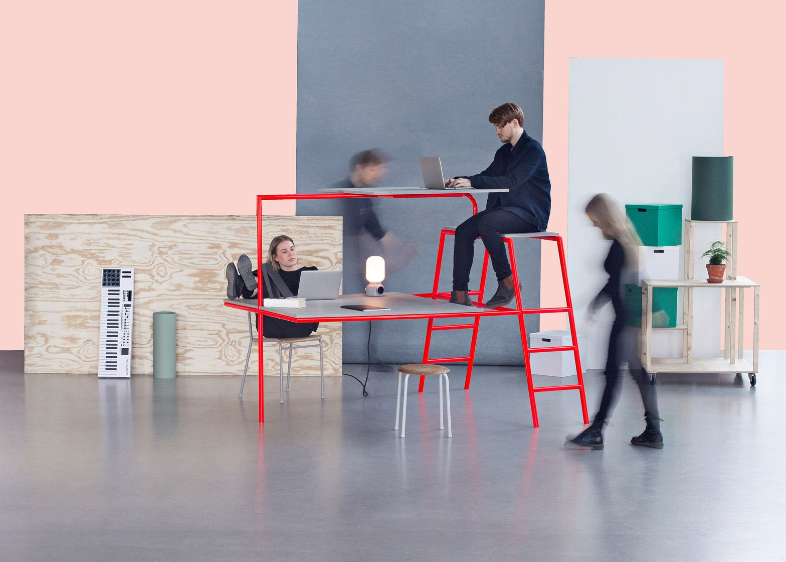 Charming Alternative Office Furniture By Rolf Hay And Lund University Students