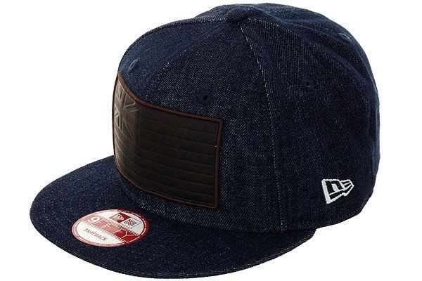 Fitted Hawaii Slaps Wind Snapback Hat - Denim, Brown - Hat Club