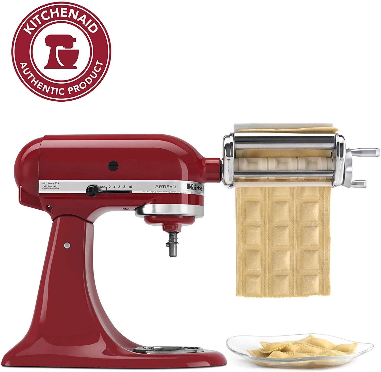 Amazon Com Kitchenaid Krav Ravioli Maker 1 Red Electric Stand Mixers Kitchen Di Kitchen Aid Pasta Attachment Kitchenaid Stand Mixer Recipes Kitchen Aid