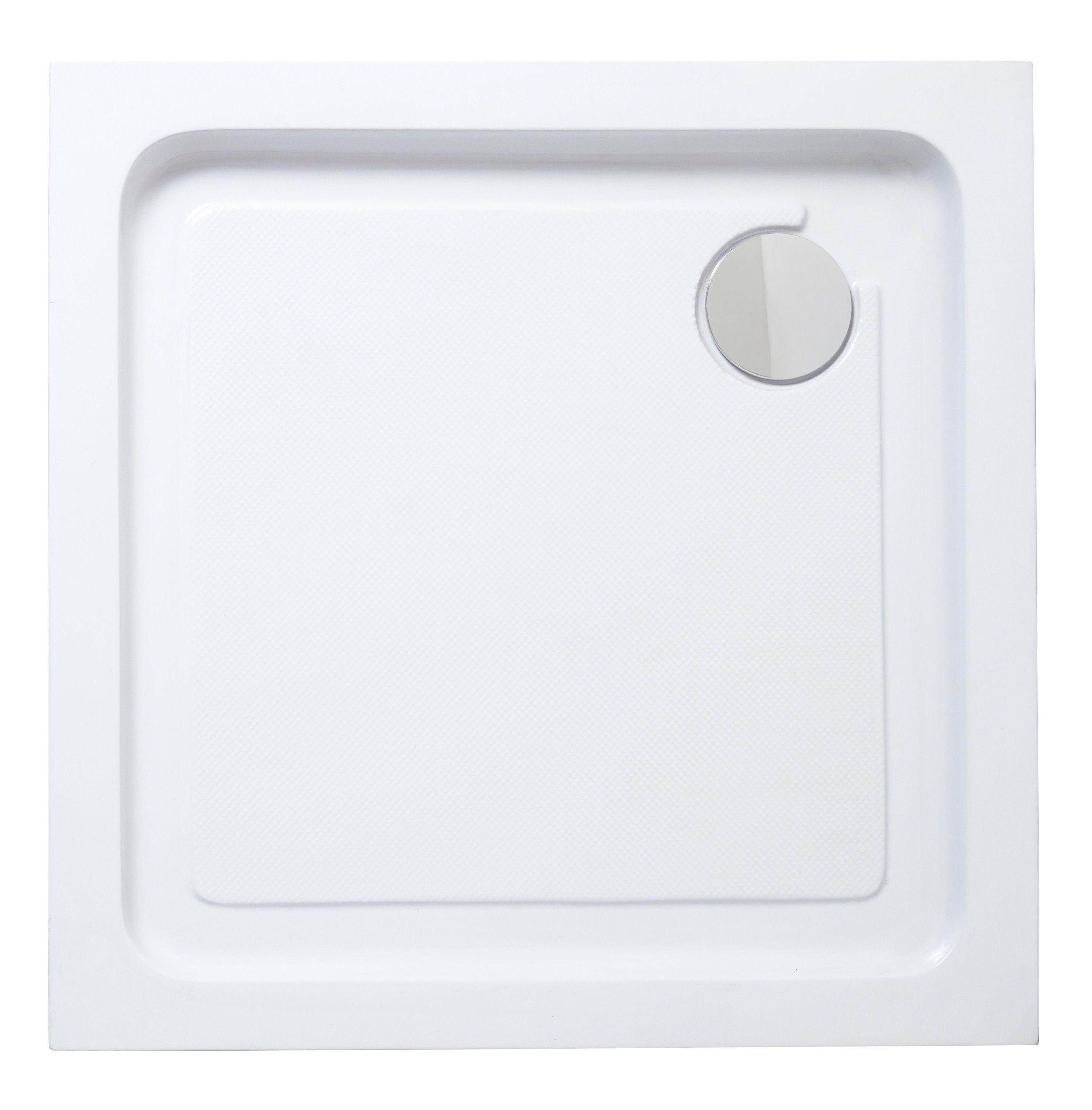 Cooke Lewis Lagan Square Shower Tray L 900mm W 900mm D 150mmwhite Carre Blanc Castorama Et Receveur