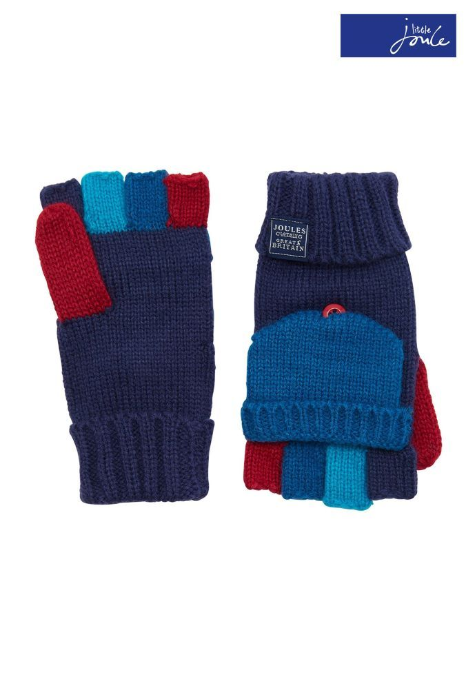 07aa07f9811 Boys Joules Navy Convertible Gloves - Blue