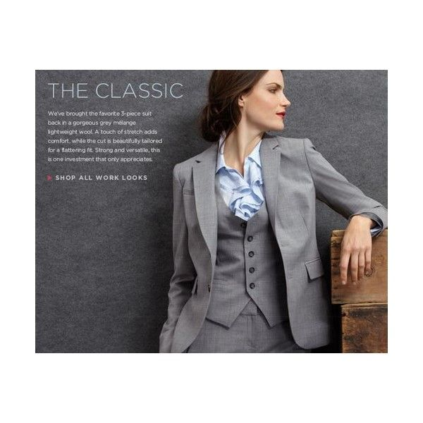 Banana Republic Classic Womens 3 Piece Suit Found On Polyvore