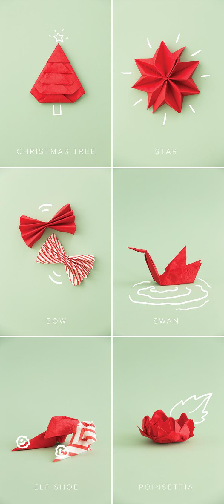 Piegare Tovaglioli Di Carta holiday napkin folding | christmas paper napkins, christmas