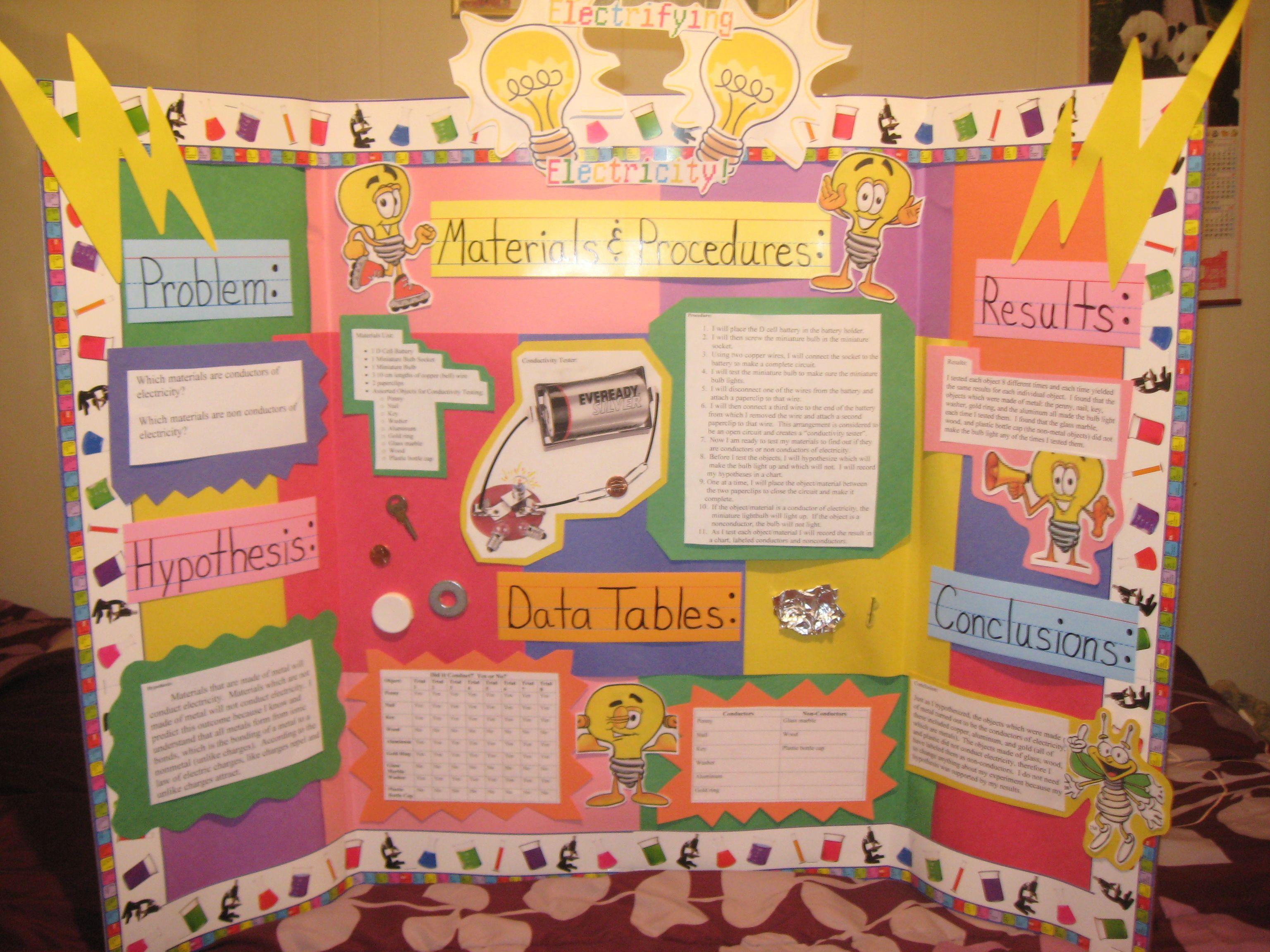 Science Fair Project- Electrify Electricity Fun Stuff