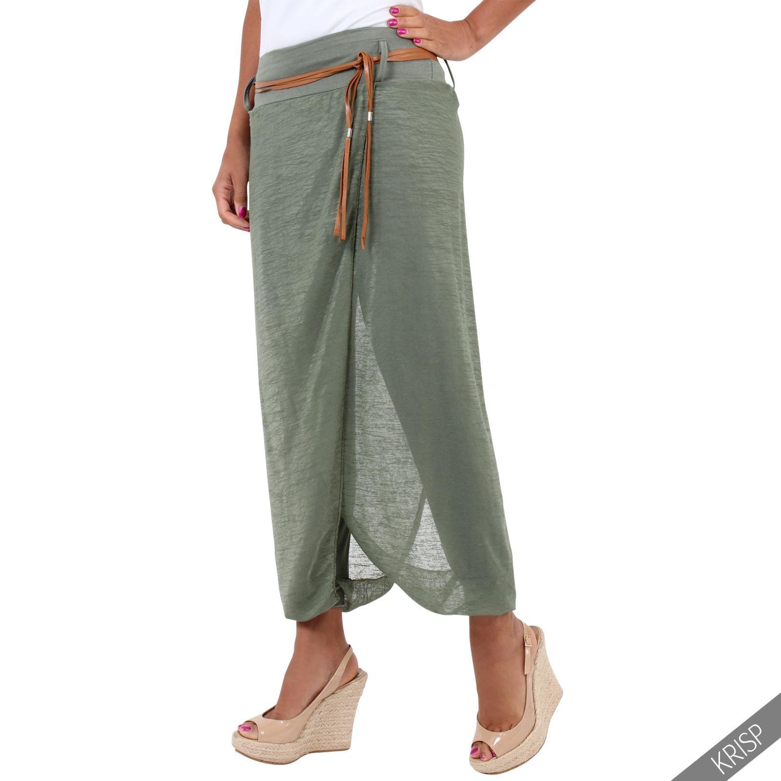 großer Verkauf großartige Qualität neue sorten Damen Harem Sommer Hose Hosenrock Wickeloptik Boho Aladin ...