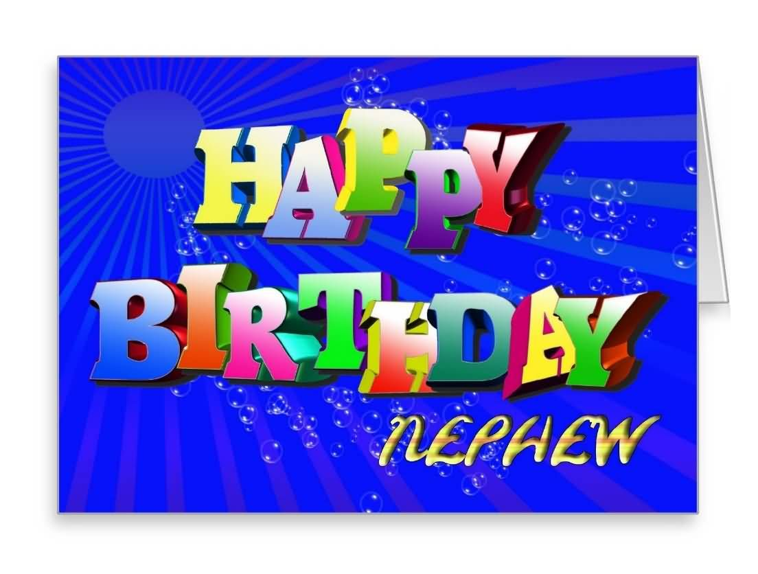 Amazing e card birthday wishes for nephewg 1104836 birthdays a rainbow of colorful letters for a happy birthday card kristyandbryce Choice Image