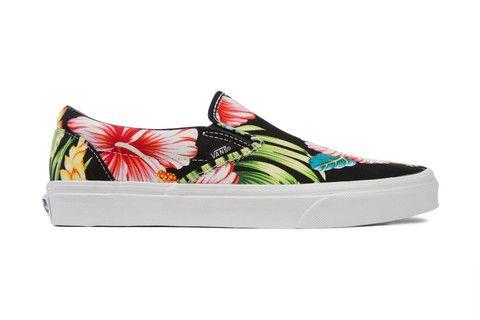 0f74bac9d6 Vans Classic Slip-On Hawaiian Floral - Black
