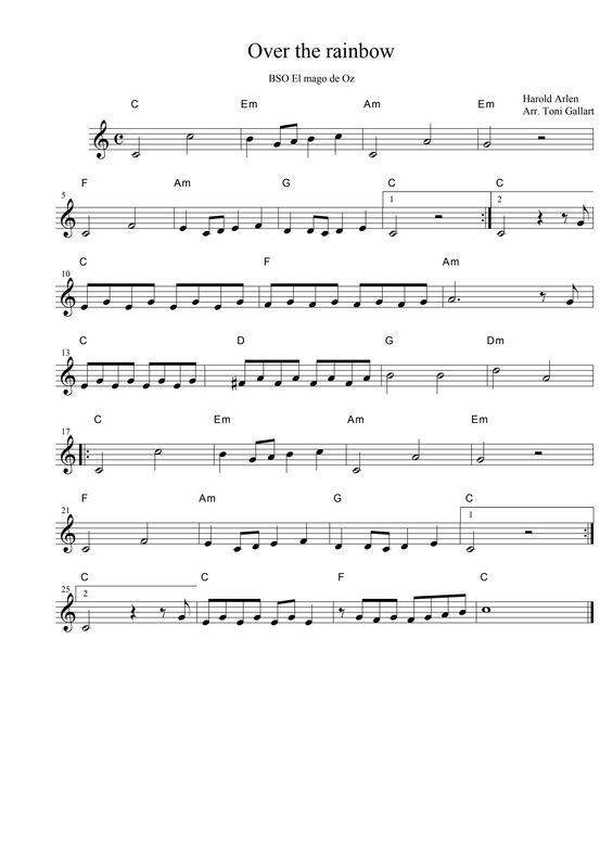 dropbox - over the rainbow no notes.pdf   clarinet sheet music, violin sheet  music, trumpet music  pinterest