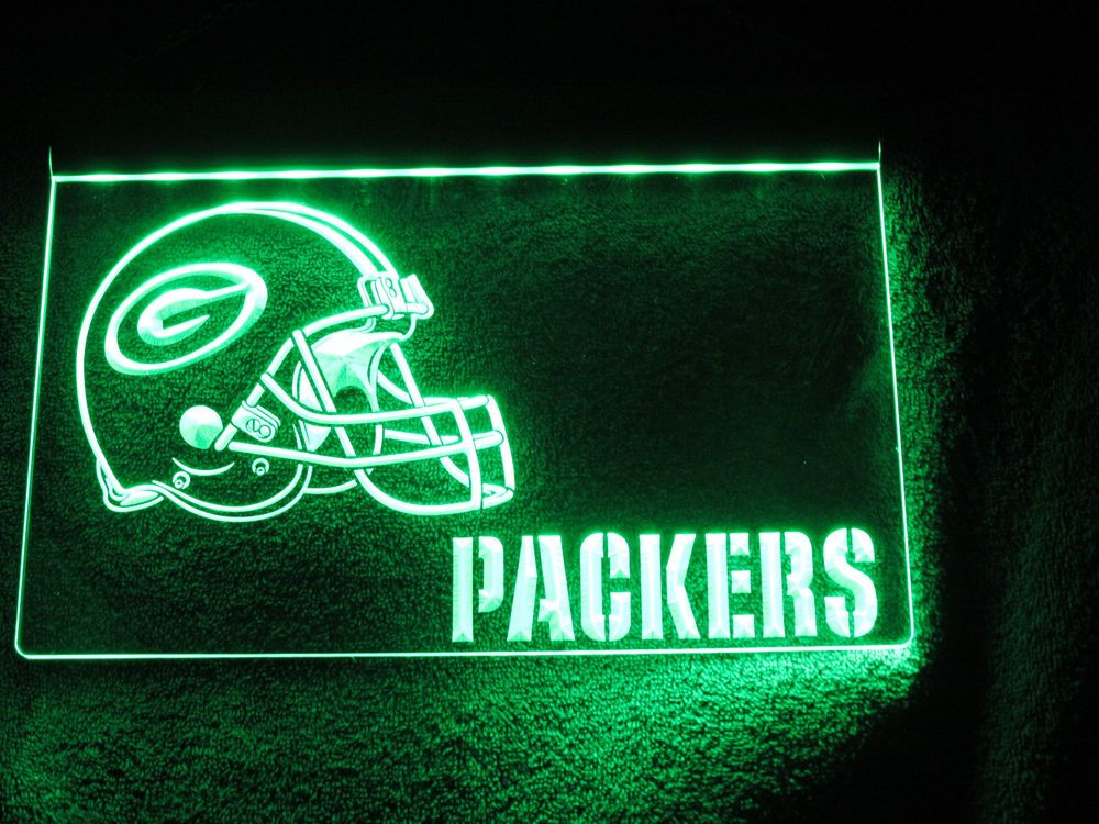 Packer Man Cave Signs : Neon led green bay packers sign football team nfl bar man cave