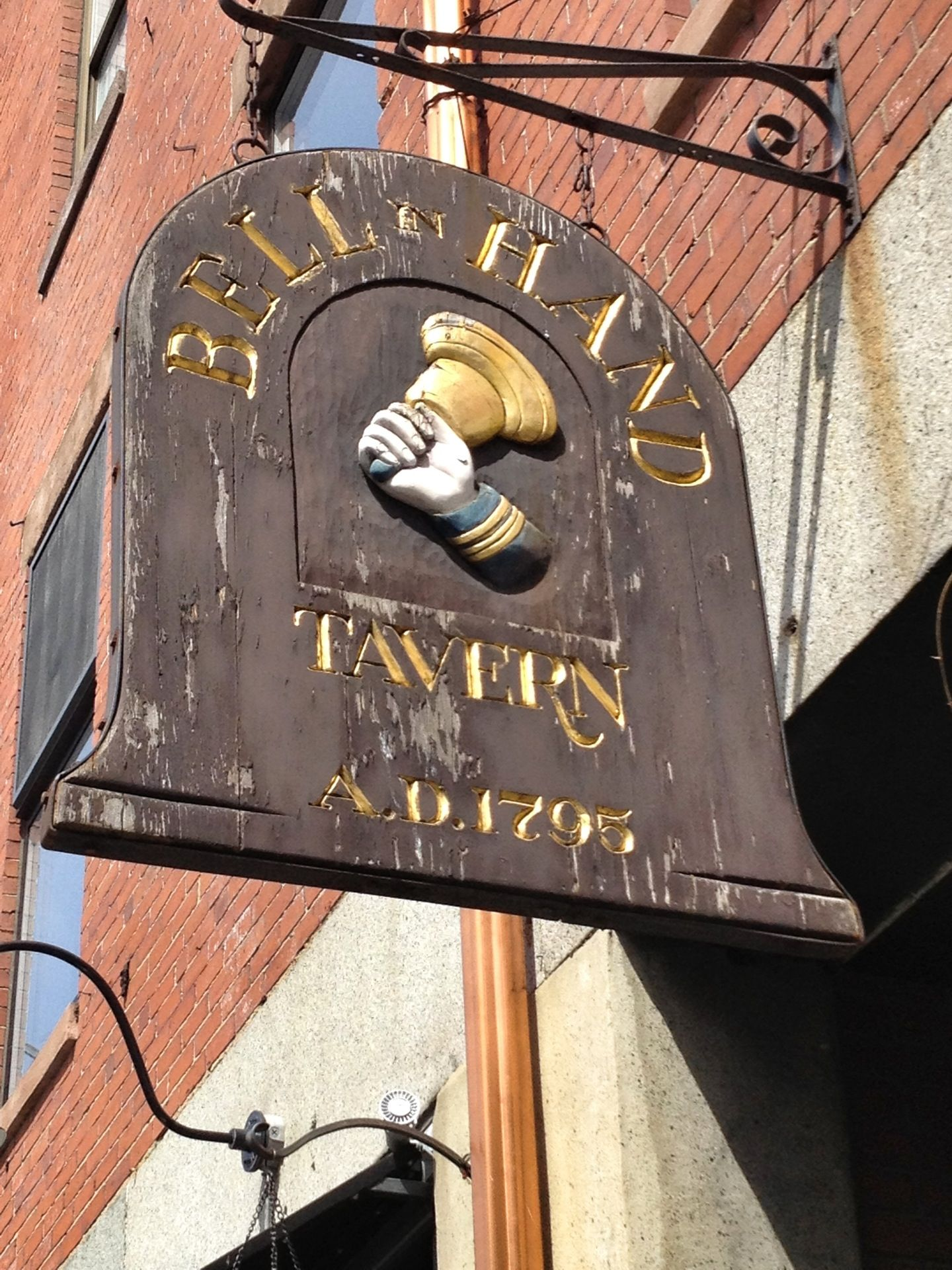 Bell in hand tavern boston vacation old bar old signs