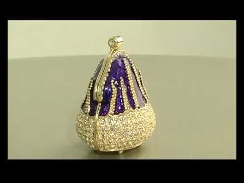 Faberge style Blue bag trinket box by Keren Kopal pop art Decoration - YouTube