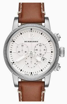 Burberry Round Leath #running #runningmen #menfitness #runningtees #runningwear #runningwatch #runningwatches #sportswatches #sportsmenwatches #menwatches