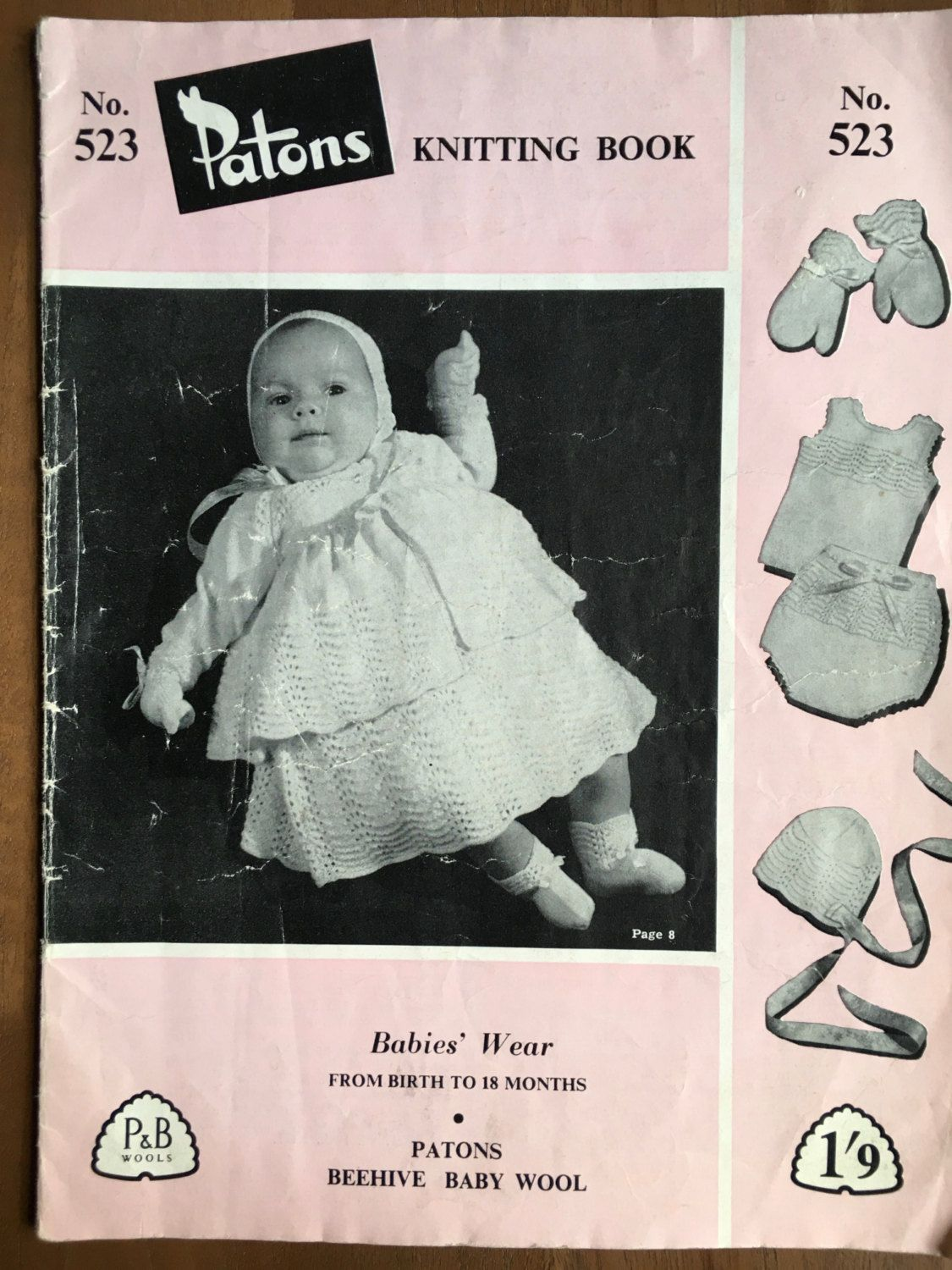 Patons 253 Vintage Knitting Patterns Book 1950s Knitting Pattern ...
