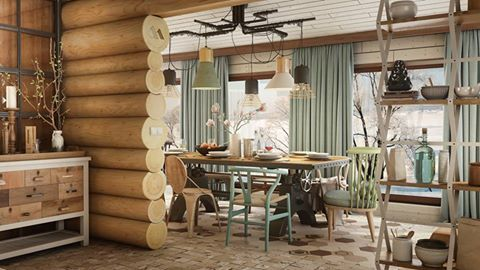 vintage industrial house 2015 is project visualization by mario stoica