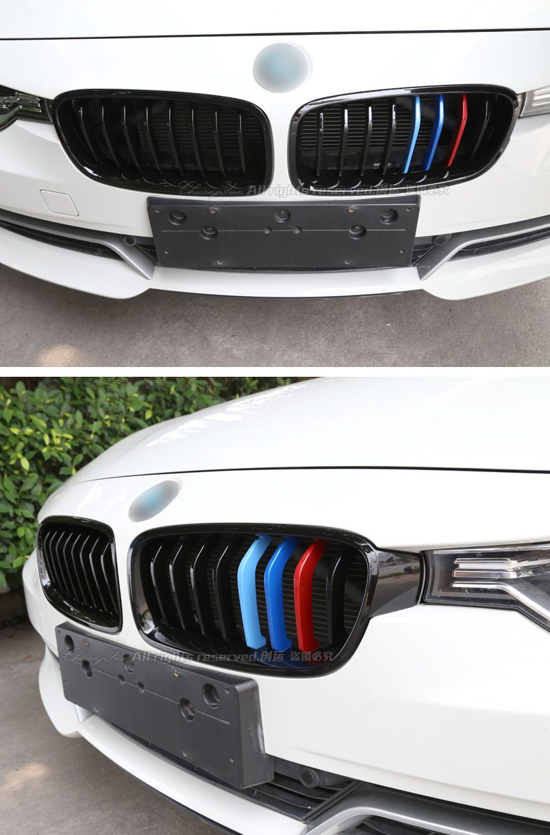 Mad Hornets Front Kidney Grill Grill M Style Decal Color - Bmw m colored kidney grille stripe decals