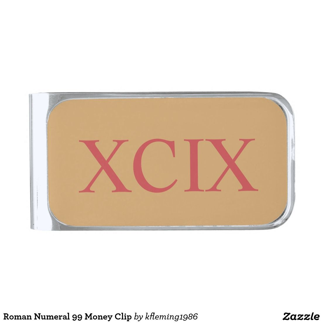 Roman Numeral 99 Money Clip