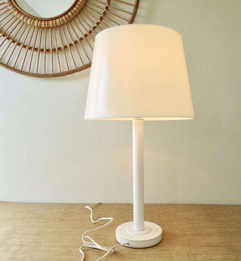 Vintage Lamp with Shade, Underwriters Laboratories Table