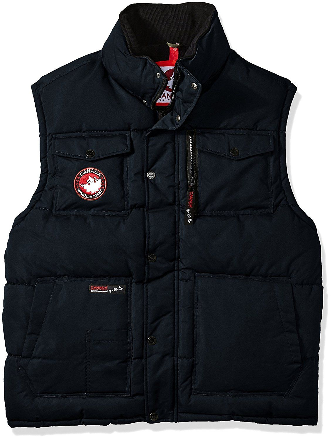 Canada Weather Gear Men 39 S Big And Tall Bubble Vest Sizes Black 5xl At Amazon Men S Clothing Store Mens Vest Outerwear Bubble Vest Outerwear Vest