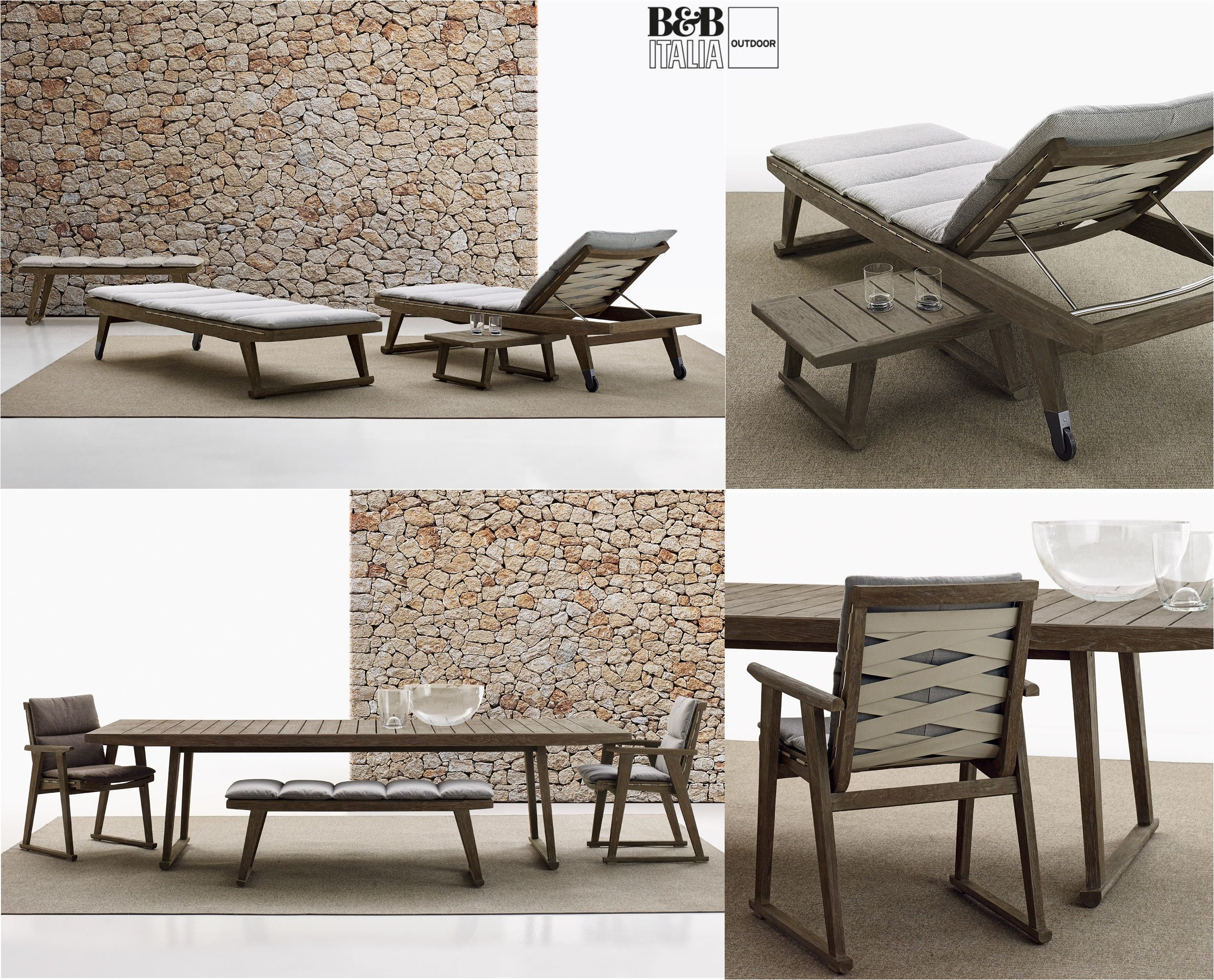 GIO Collection chaise longue sunbeds armchairs chairs tables