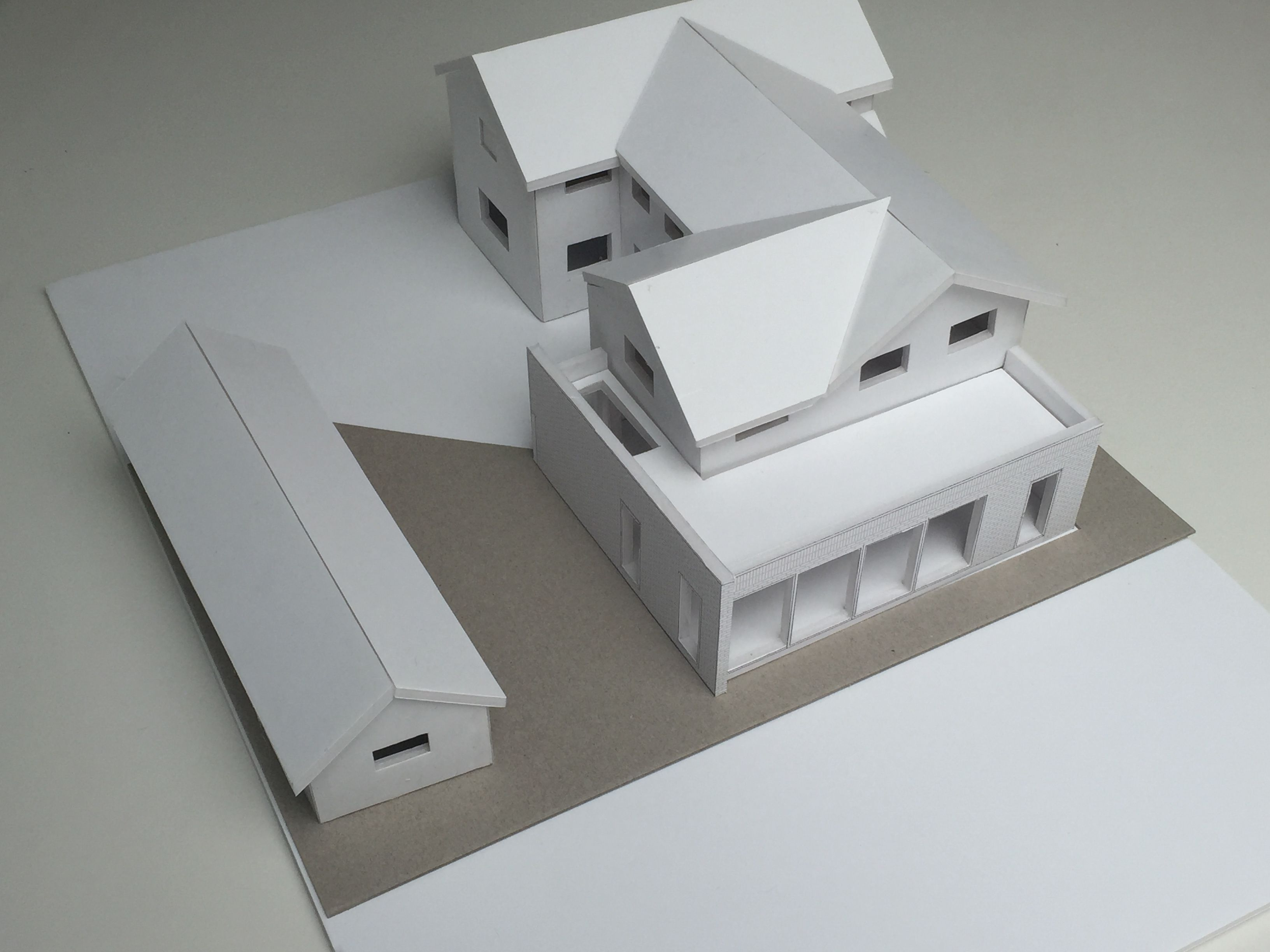 Annabelle Tugby Architects Architectural Foam Board Model Of Single Storey Brick Extension Brick Extension Architecture Architecture Model