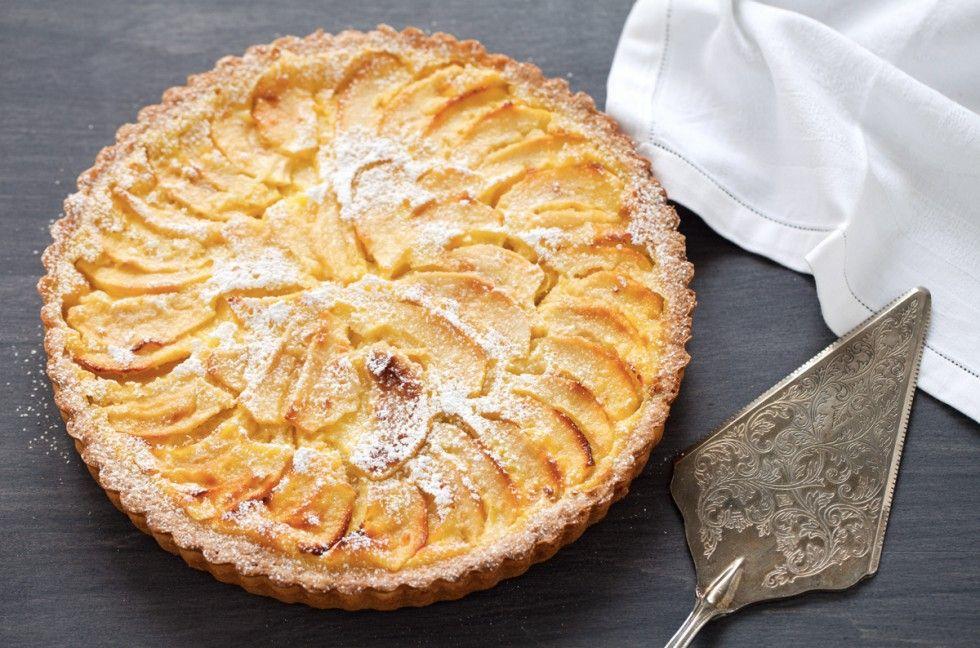 Crostata Di Mele Con Crema Ricetta Dolci Desserts Baked