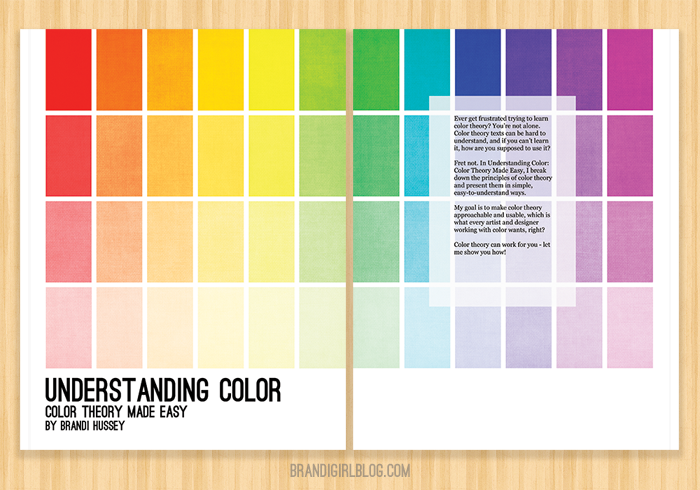 understanding color color theory made easy print and digital book by brandi - Color Theory Book