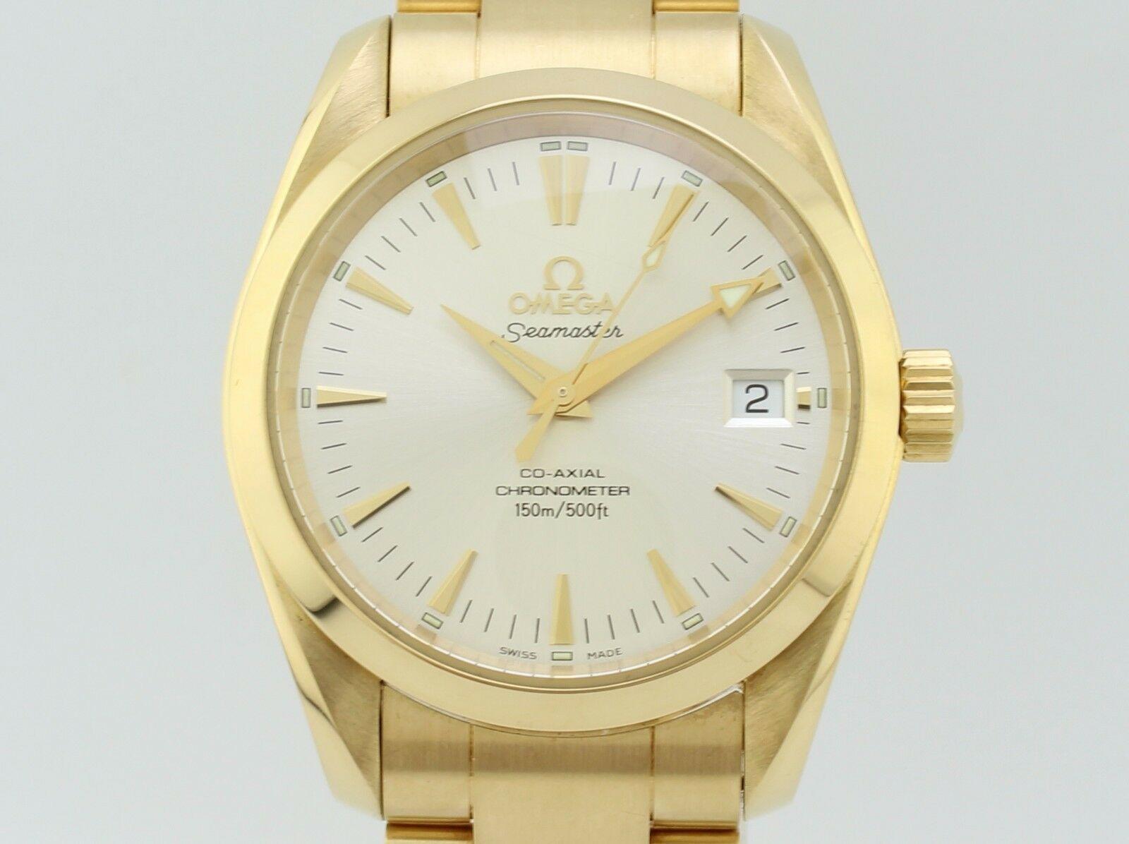 Omega Seamaster Co Axial Chronometer Automatic Gold Aqua