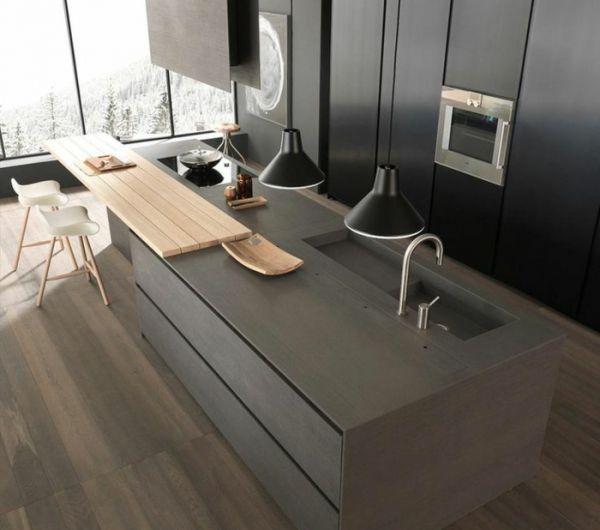 Küche Mit Kochinsel Ultramoderne Einrichtung