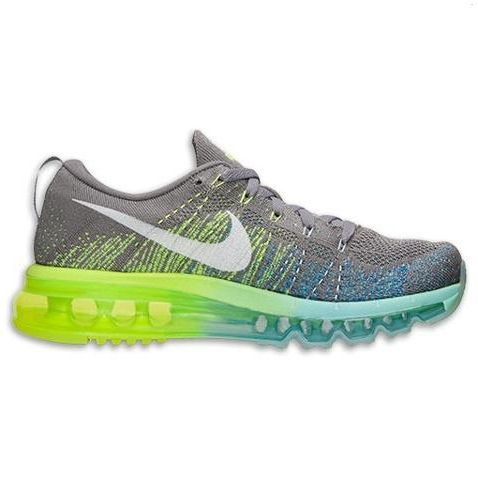Nike Flyknit Air Max Womens Shoes Gray Yellow White Portugal