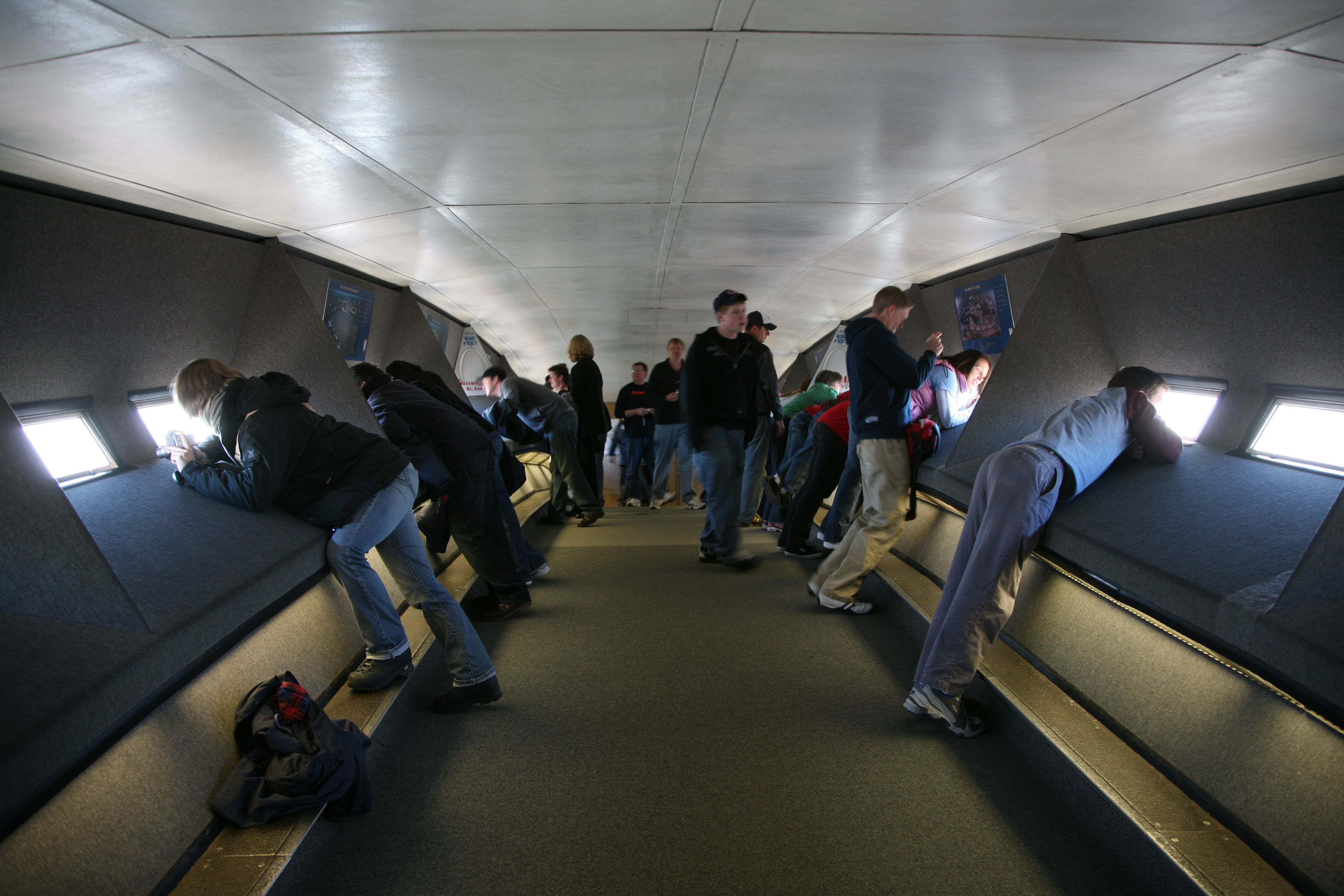 Inside at the top of the Saint Louis Arch  Places  Hometown St