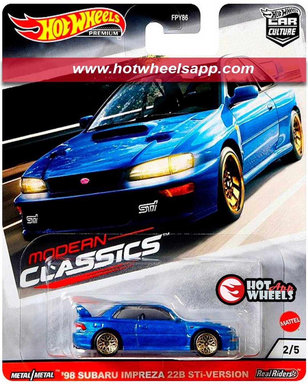 98 Subaru Impreza 22b Sti Version Hot Wheels Subaru Impreza Hot
