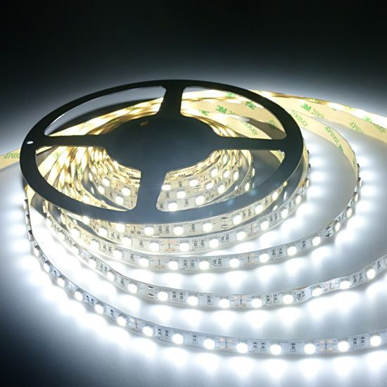 Cool White Flexible Led Strip Light Non Waterproof Led Ribbon Light 12volt 300leds 5050 Led Strip Lighting Strip Lighting Led Light Strips