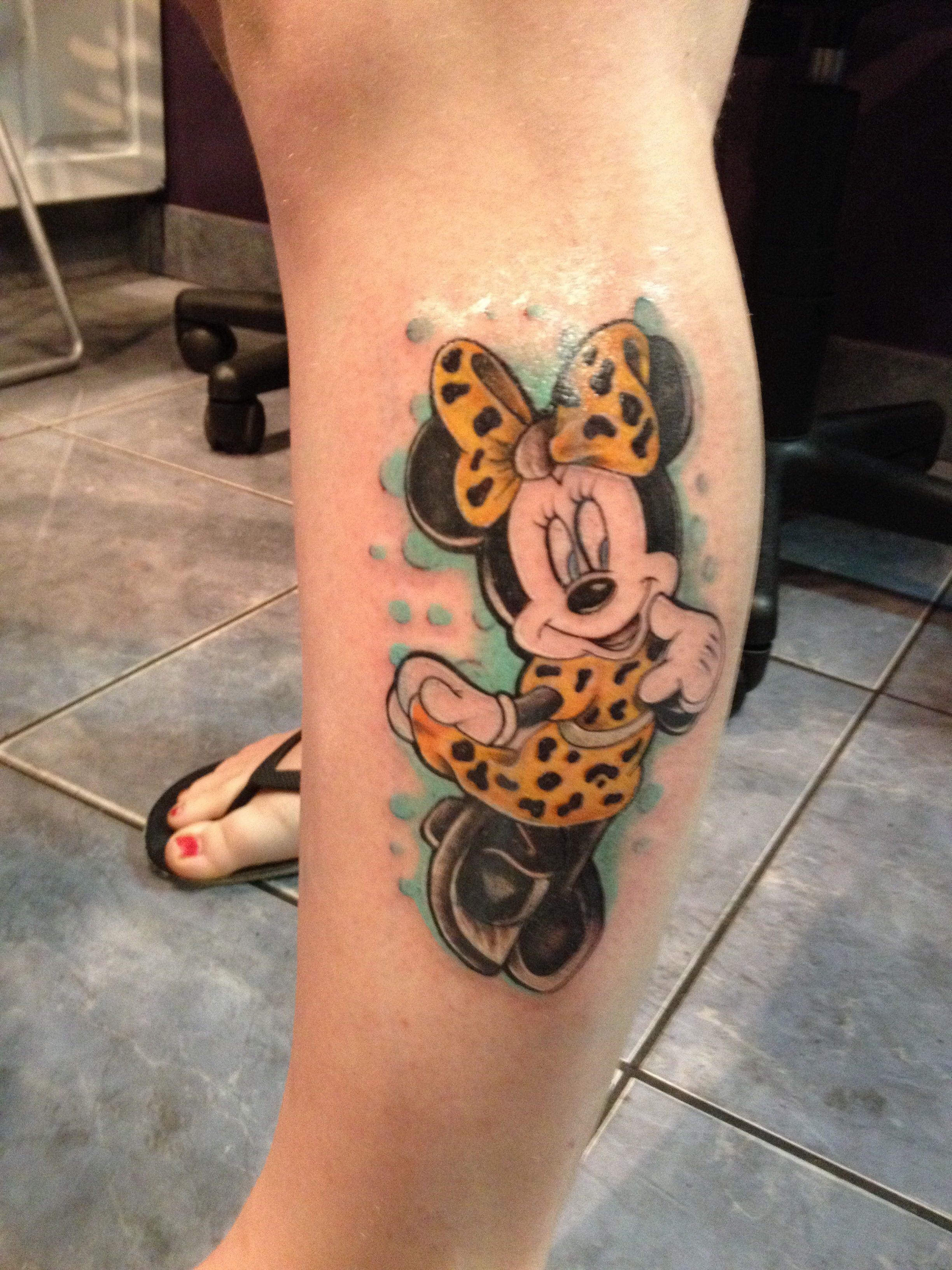 My Minnie Mouse Tattoo 3 Tattoos Disney Tattoos Mouse Tattoos