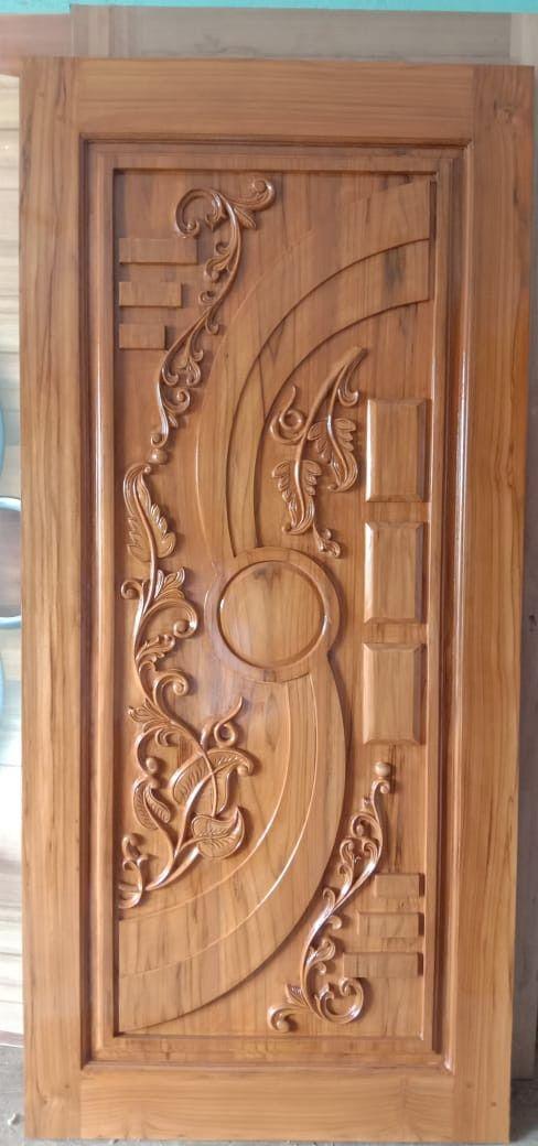 Pin By Sruthi On Doordesignartcam 918421146457 Wooden Main Door Design Door Design Wood Single Main Door Designs