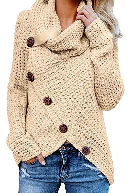 aus Dokotoo asymmetrische Baumwolle Damen Strickjacke deWBrCxo