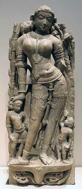 """Celestial Beauty ('Surasundari'). Date: 11th century Culture: India (southern Rajasthan) Medium: Marble."""