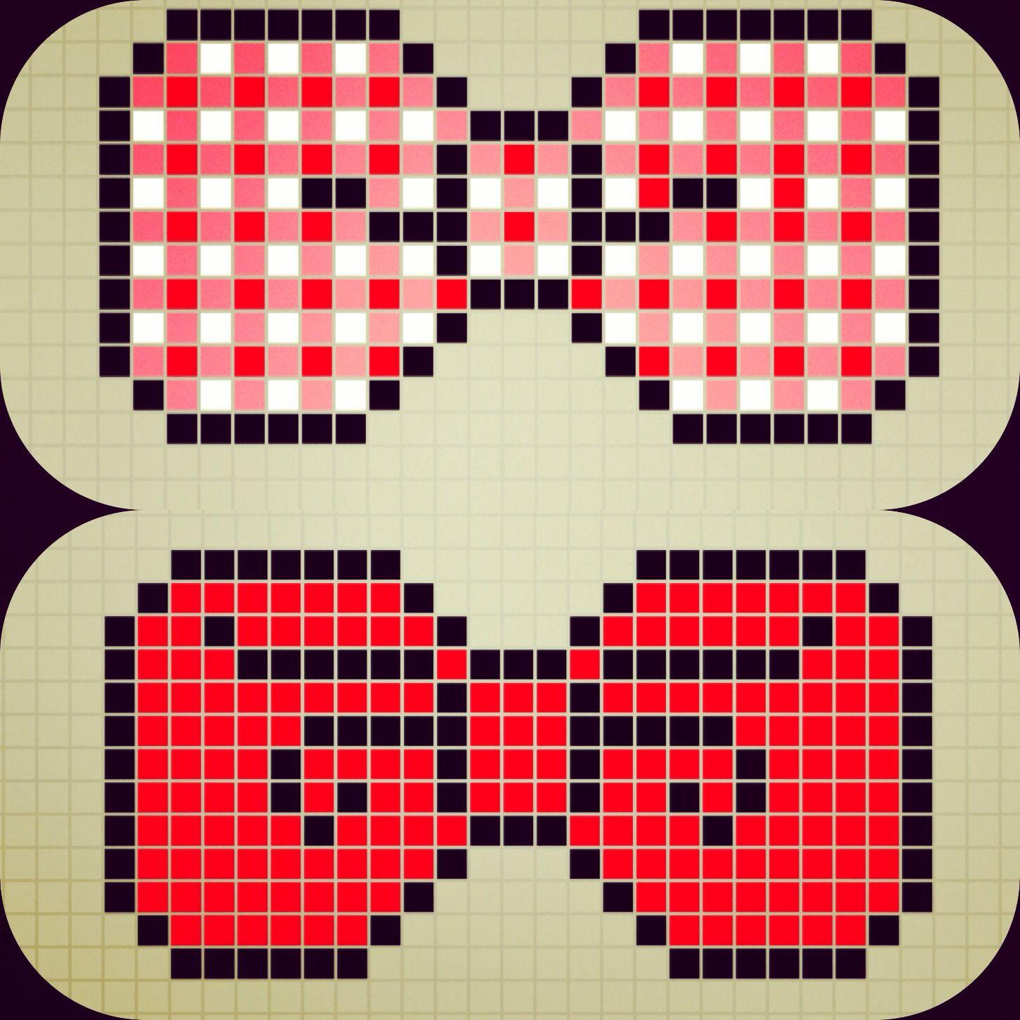 Perler bead bow ties pattern designed by Rosealine_Black
