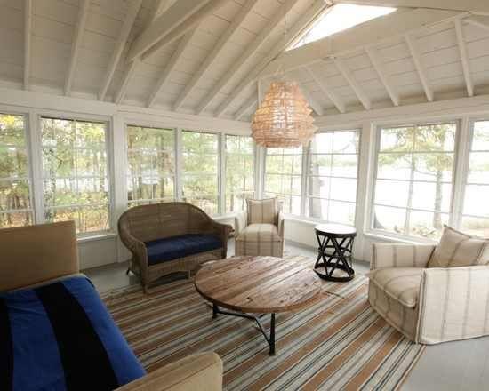 Exposed Rafters Floor Design Sunroom Designs Interior Design