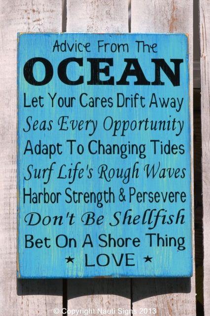 Ocean Advice Rules Rustic Beach Sign Ocean Poem Advice From The Ocean Sign Aqua Blue Azure Lapi Beach Wedding Signs Beach Signs Wooden Signs With Sayings