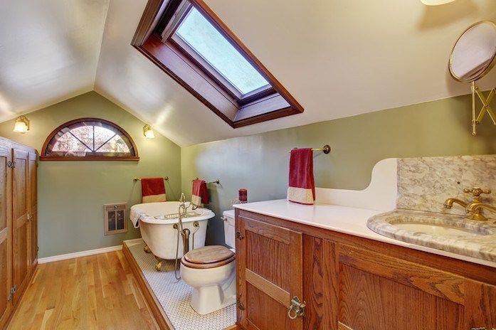 9 Ways To Add Decor To Vaulted Ceilings Custom Bathroom Designs Beautiful Bathrooms Clawfoot Tub Bathroom