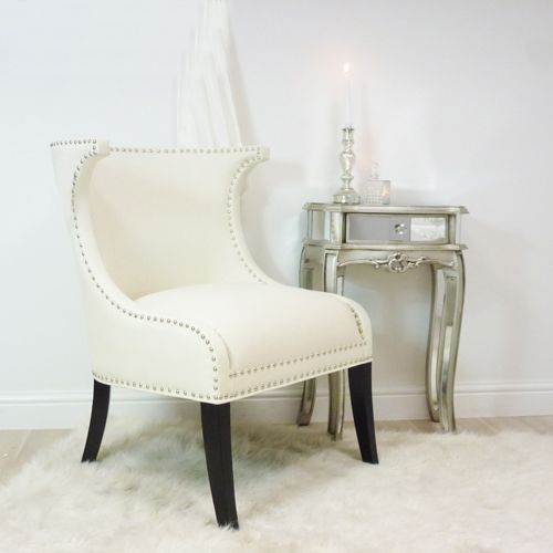 Modern Glamour White Dining Chair Ideal For Creating A Formal Room Setting