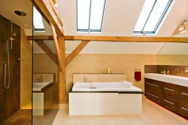 scheune wohnhaus badezimmer dachfenster design | scheune ... | {Badezimmer mit dachfenster 69}