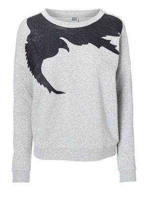 WP - BIRD L/S SWEAT, Light Grey Melange, main