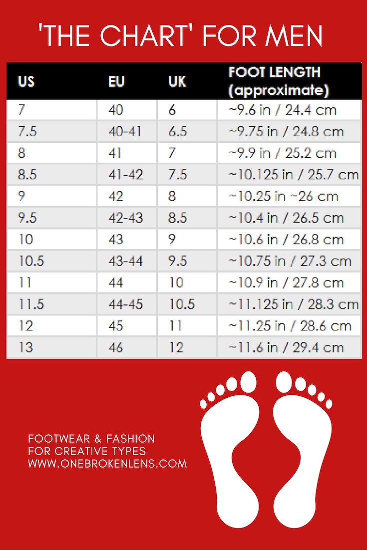 Men S Shoe Size Chart Loafers For Women Shoe Size Chart Leather And Lace