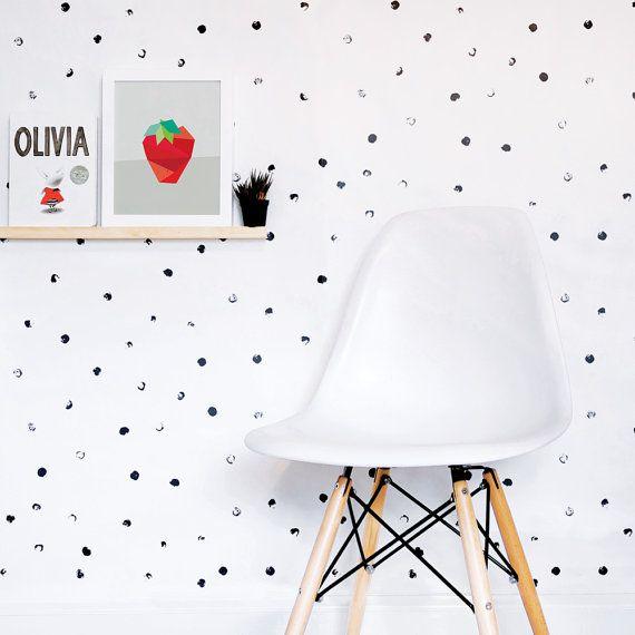 Dots Wallpaper Black And White Wallpaper Kids Wallpaper Monochrome Wall Sticker Self Adhesive Kids Room Wallpaper Kids Wallpaper Black And White Wallpaper