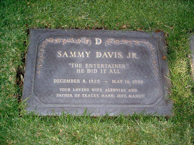 Grave Marker- Sammy Davis Jr, singer/actor (Golden Boy). He is interred in the…